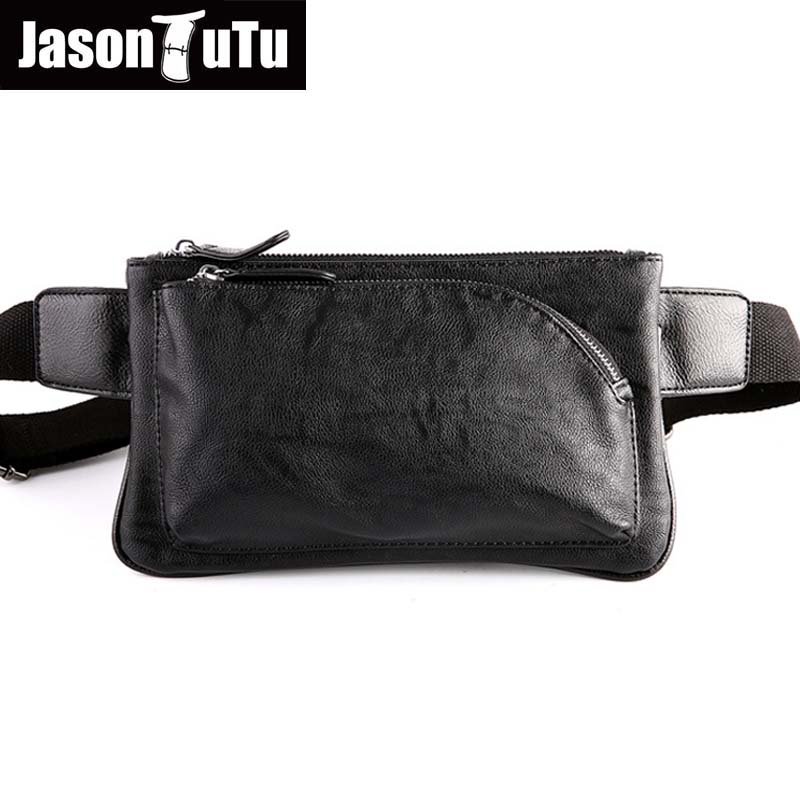 Hot 2018 New brand waist bag design fashion Waist Packs black pu leather men bag vintage fanny pack Men Pouch B09 cuwhf vintage men s leather purse waist bag black adjusted belt bag man casual waist pack pouch brief design fashion waist bag
