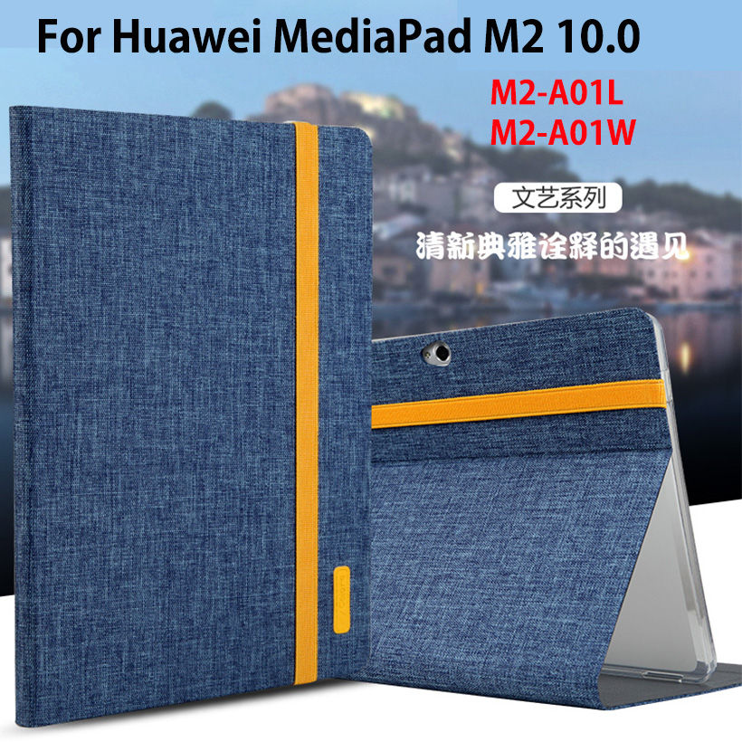 купить Ultra Slim Case For Huawei MediaPad M2 10.0 inch M2-A01W M2-A01L Case Cover Funda Tablet Leather+Silicone Stand Sleep Shell недорого