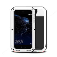 LOVE MEI Extreme Protection Life Waterproof Dropproof Metal Case For Huawei P10 Plus P10 Powerful For