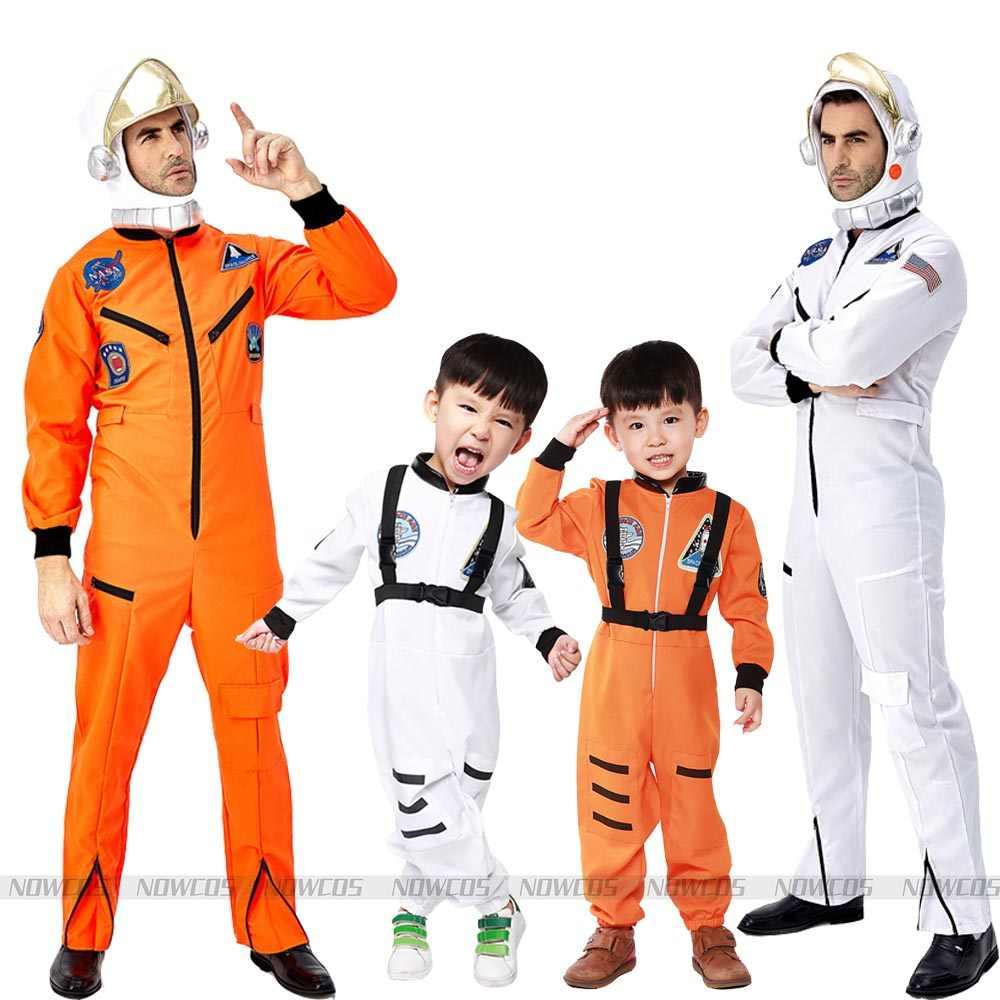 Kid Astronaut Costume Halloween Boys Girls Children's Day Book Week Party Dress Astronaut Outfit One piece Jumpsuit