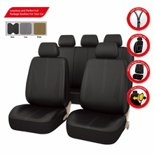 Car-pass Venta Caliente de Cuero de La Pu Auto Fundas de Asiento de Coche Universal Car Interior Accesorios Negro/Gris/Beige Fundas de asiento