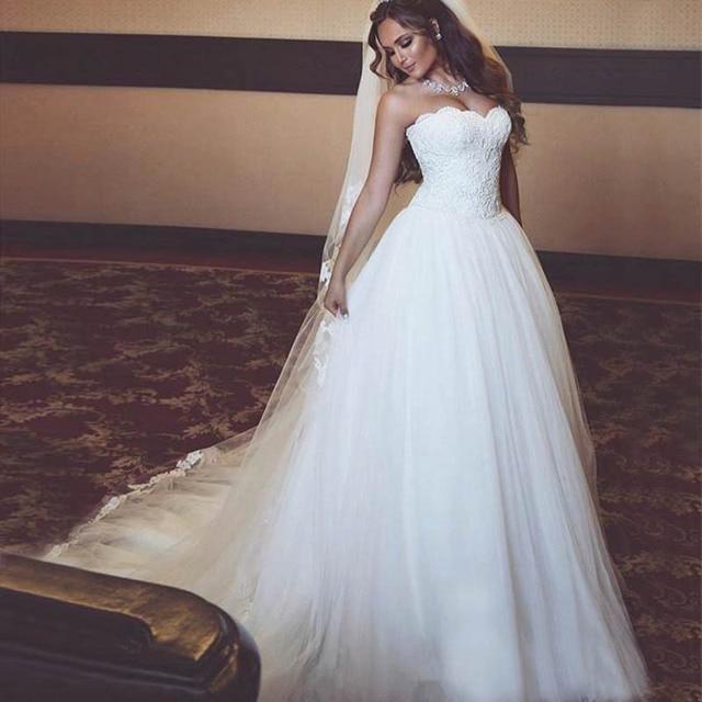 Lover Kiss Vestido De Noiva Sweetheart Tulle Simple Wedding Dresses Plus Size Lace Bridal Gown Corset Boho Custom robe de mariee