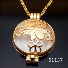 1pc/pack Vintage Style Chain necklace Butterfly Sharpe Pendant Jewelry Hollow Photo Locket Fragrance Essential Oil Necklace 70cm(China)
