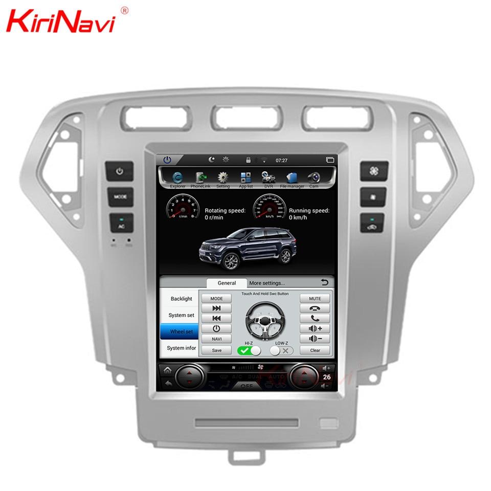 KiriNavi Vertikale Bildschirm Tesla Stil Android 6.0 10,4 zoll Auto Radio Dvd-Spieler Gps Für Ford Mondeo 2 Din Navigation 2007 -2010