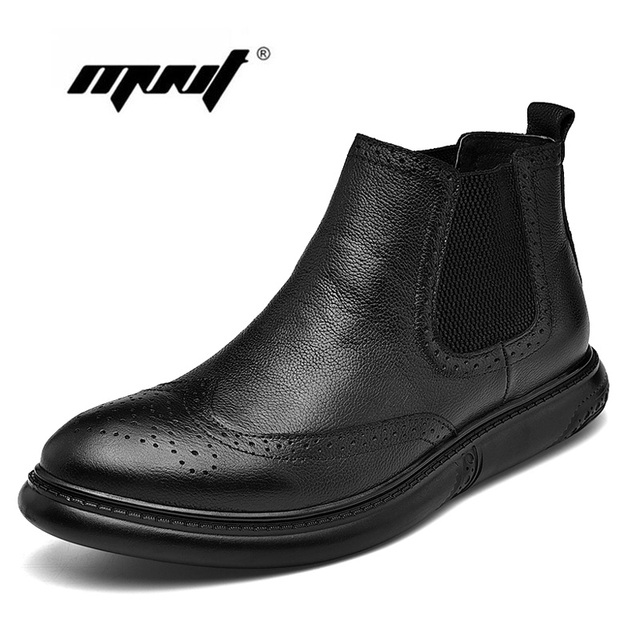 Plus Size Breathable Men Boots Casual Autumn And Winter Shoes Outdoor Comfort Ankle Boots Non-Slip Plush Snow Boots Dropshipping