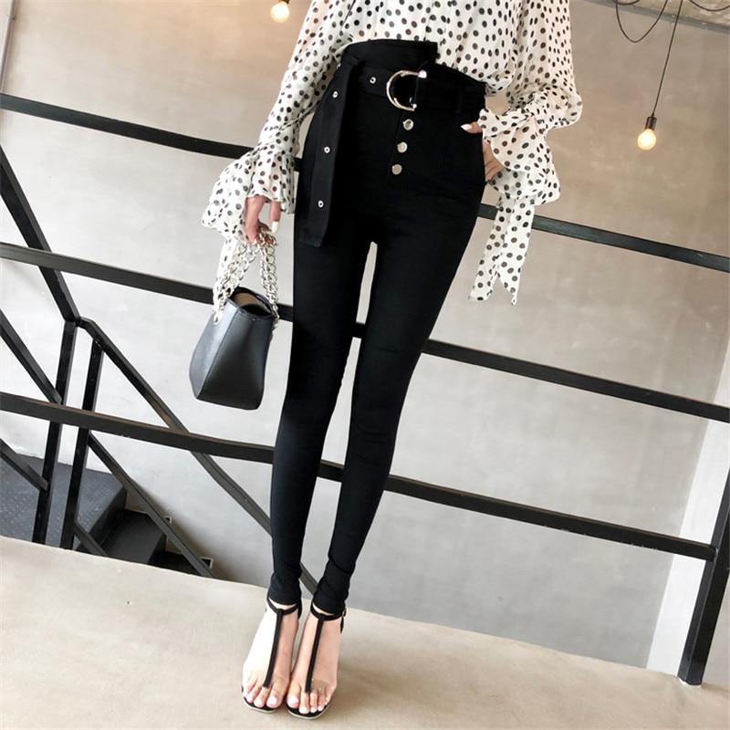 88d6135738 Invierno Cintura De Leggings Pies Salvaje Mujer 2018 Negro Nuevo Delgado  Coreana Lápiz Alta E Versión Terciopelo La Para Más Otoño Pantalones  CXwqxwZSP