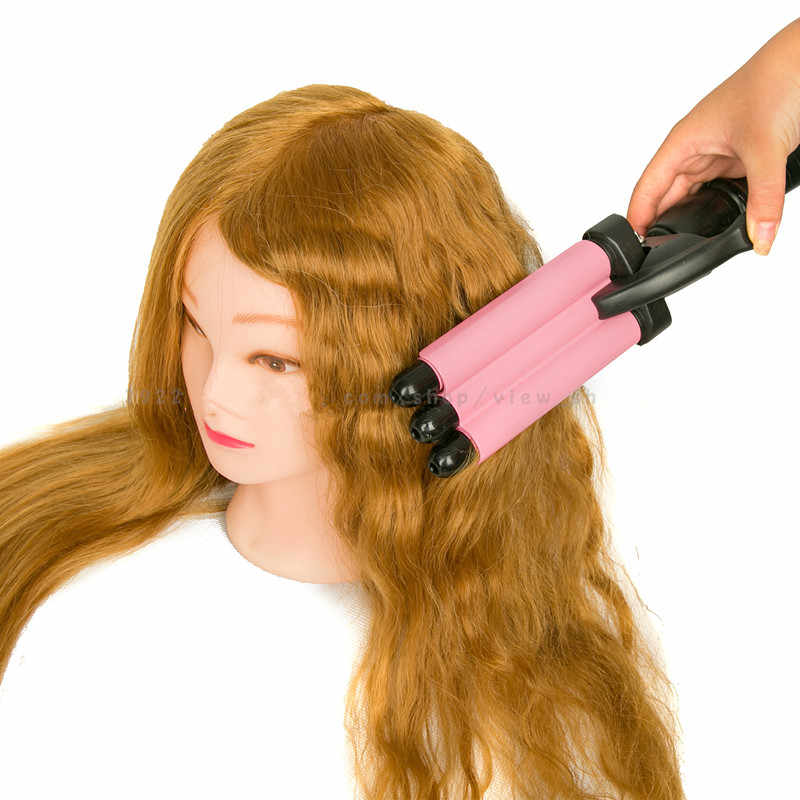 high quality  100% Natural Human Hair Training Mannequin Head Cosmetology Hairdressing Mannequin heads Makeup with Long Hair
