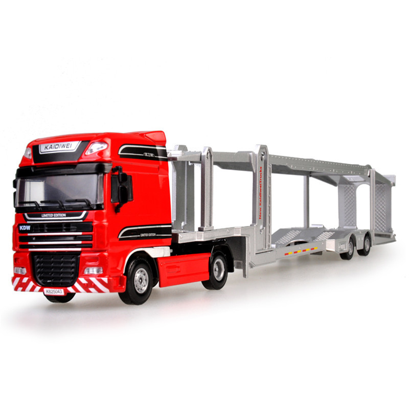 KAIDIWEI 1:50 Scale Alloy Car Transporter Toy New Engineering Truck Toys For Children alloy diecast model trucks transport 1 50 engineering car vehicle scale truck collection gift toy