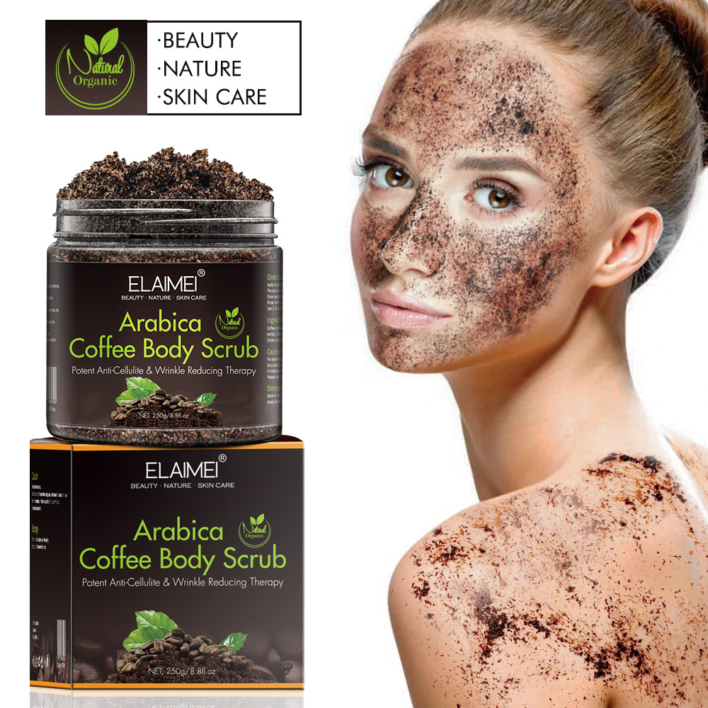 250g Coffee Scrub Body Scrub Cream, Facial Dead Sea Salt For Exfoliating Whitening Moisturizing Anti Cellulite Treatment Acne