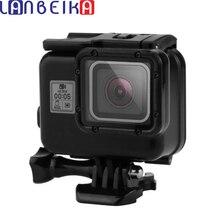 Lanbeika для GoPro Hero 6 5 черный Цвет Водонепроницаемый Корпус случае Сенсорный экран задняя дверь Подводный бокс для GoPro Hero5 Hero6
