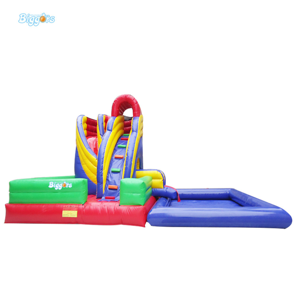 Inflatable water park slide water slide slide with pool amusement park game water slide