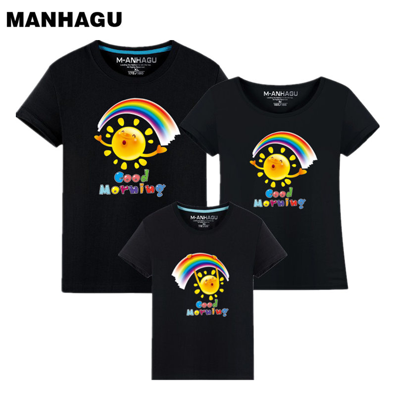 MANHAGU Brand 1 piece Family Matching Mother Daughter Dresses clothes - Children's Clothing - Photo 1