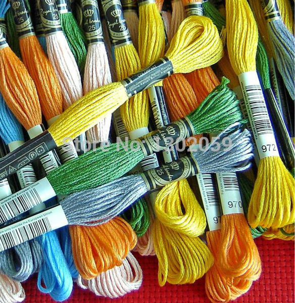 8 7 Yard 6 Strands 200 Pieces of Cross Stitch Embroidery Royal Floss Yarn Thread 200