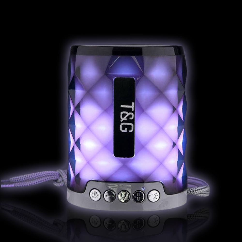 Anko Bluetooth Portable Speaker Crystal Look: Portable Wireless Bluetooth Speaker Crystal Color Light Gifts Subwoofer Bluetooth Column MP3