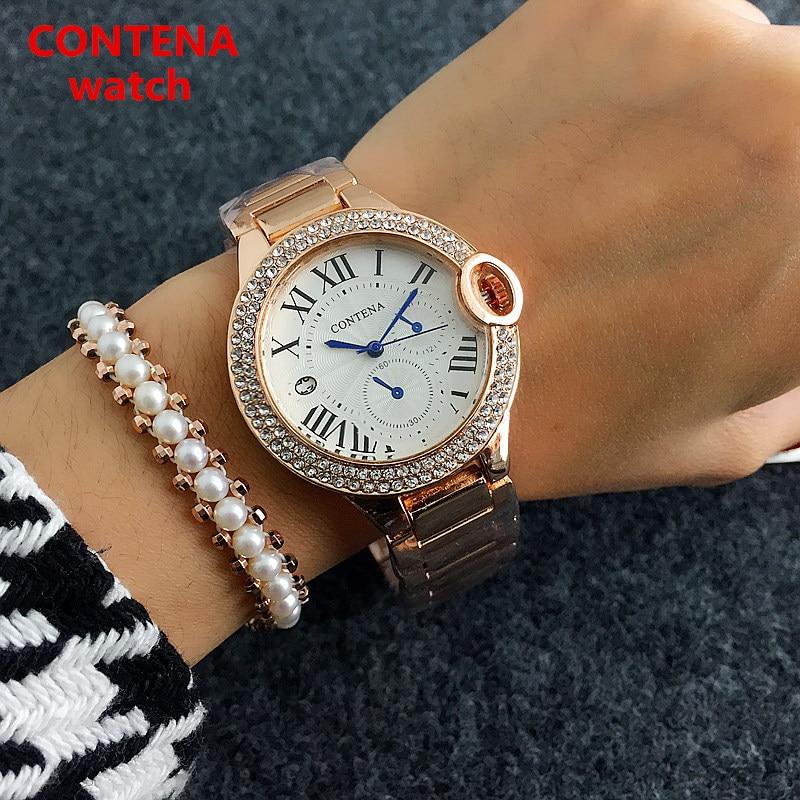 CONTENA Armband Quartz horloge Luxe Dames Casual horloges Mode Rose - Dameshorloges - Foto 4