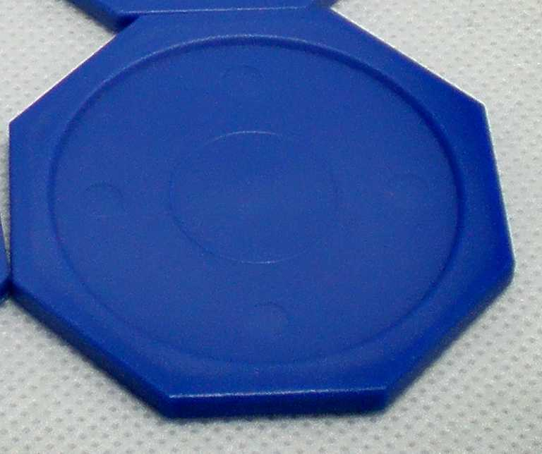 """جديد 1 قطعة الأزرق سداسية طاولة لهوكي هوائي انتهازي عفريت 63 مللي متر 2-1/2 """"غليس 71"""