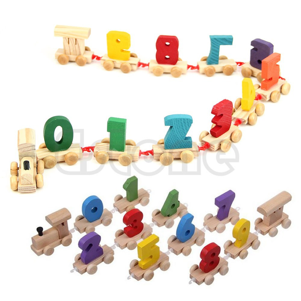 online buy wholesale wooden number train toy from china wooden