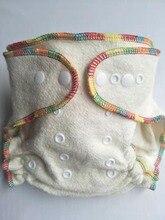 ผ้าอ้อมผ้า Overnight ผ้าอ้อม 2 ผ้าฝ้าย Hemp Inserts, หนึ่งขนาดที่มีปุ่ม SNAP FIT 3 13 กก.Babys ไม่มี Pul