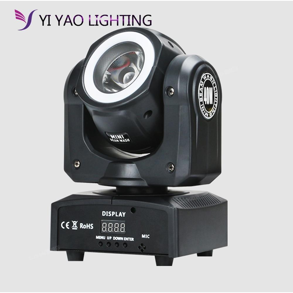 Диджейский светильник ing, светодиодный мини прожектор с движущейся головкой 60 Вт, сценический светодиодный светильник