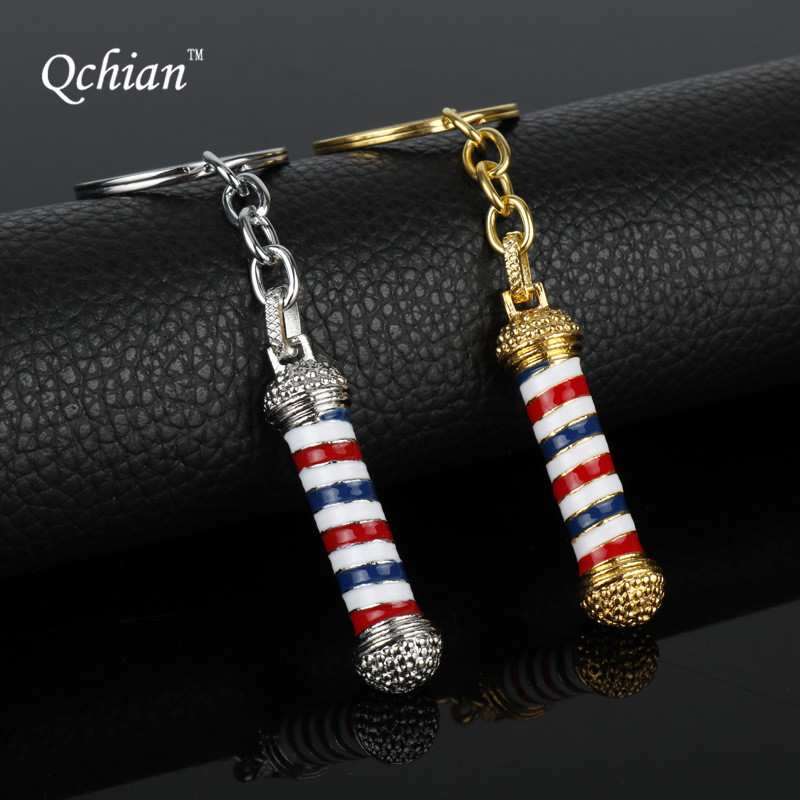 Barber Shop Pole 3D Barber Pole Key Chains Fashion Jewelry Accessorie Choker Keychain Hi ...