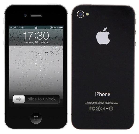 Цена за Горячие Продажа Оригинальный Разблокирована Apple iPhone 4S Dual Core 8/16/32 ГБ ROM 8MP 3.5 ''WCDMA WIFI GPS IOS смартфон Бесплатная Доставка