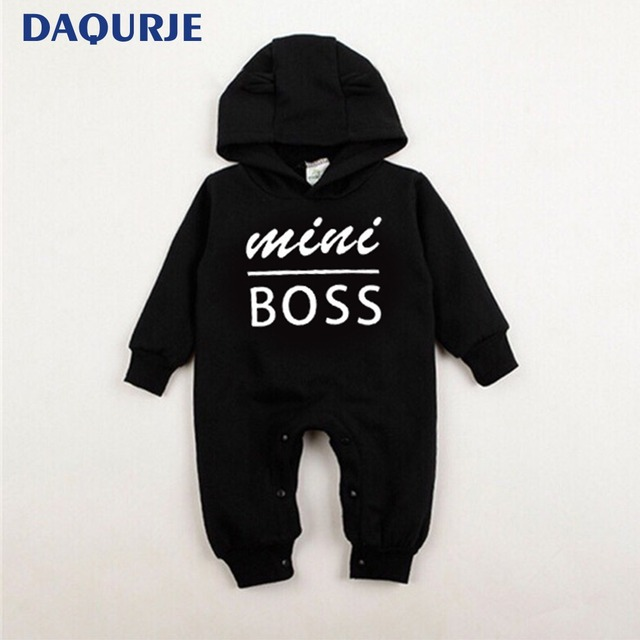 2018 Autumn Winte Baby Boy Clothes mini boss Casual Warm Velvet Hooded  Newborn baby clothes Infant 3efd78b77f2