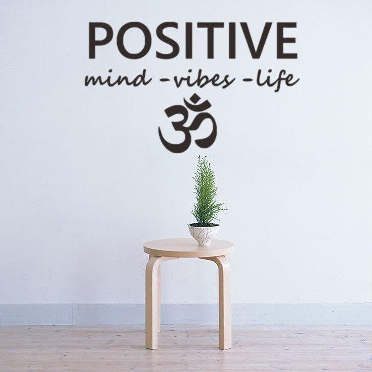 pozitivní mysl vibrace život muslimská kultura vinyl obtisky domov výzdoba obývací pokoj nabídka diy umění nástěnná malba odnímatelné nálepky na zeď
