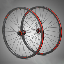 цена на MTB Bicycle 3k Carbon Wheelset 27.5 29er 30mm Depth Rims Thru Axle Quick Release Four Bearing Hub 28holes Cycle F/V
