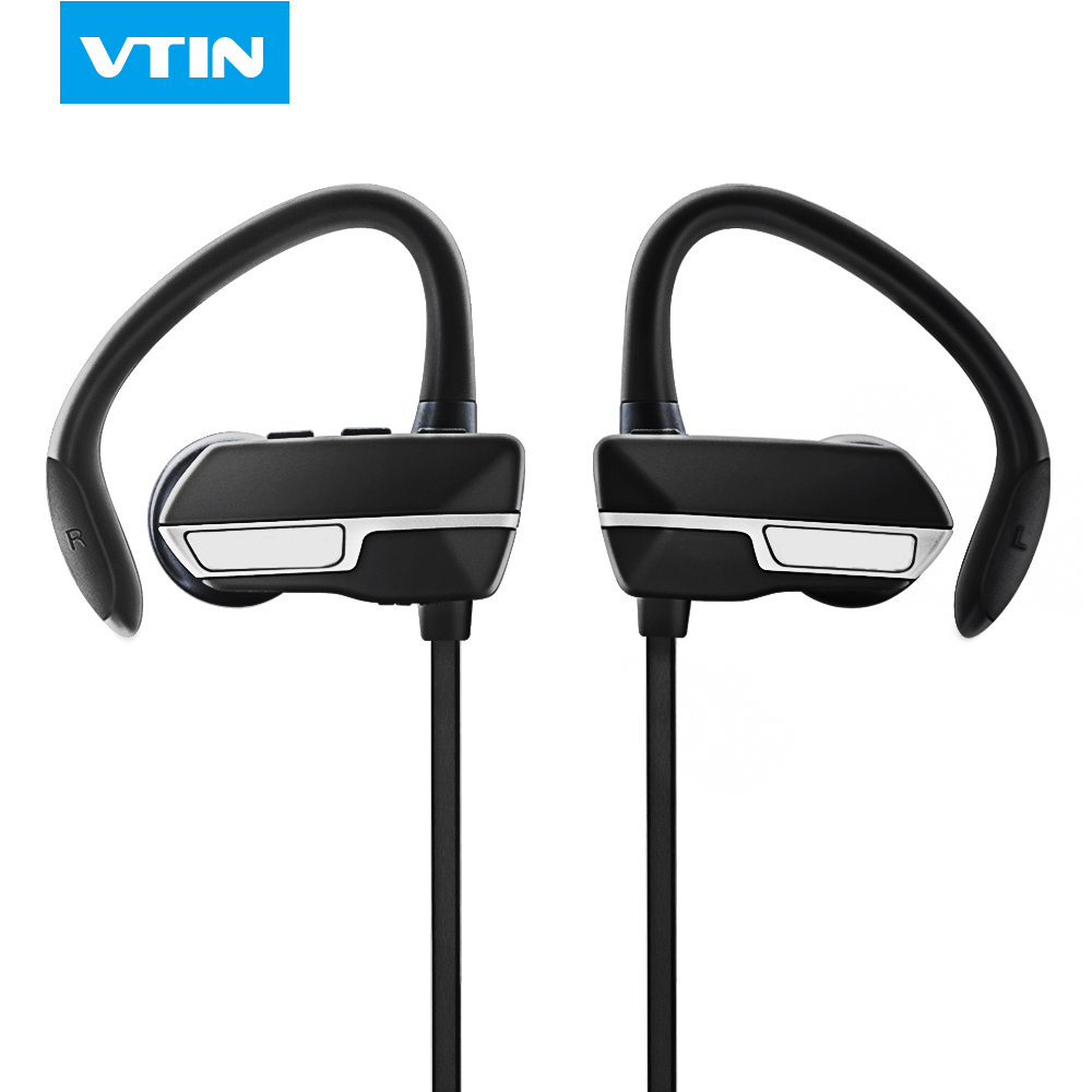 ФОТО Vtin Wireless Bluetooth 4.1 headphone headset Noise Cancelling Earbuds Sweat-proof Ear hook sports earphone with Mic for phones