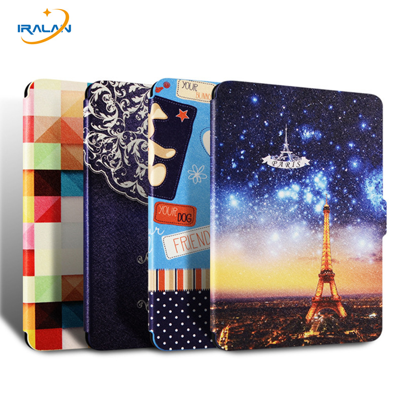 Case For Amazon kindle paperwhite 1 2 3 Ultra thin filp cover for Paperwhite 2016 6th generation E-BOOK Painted shell+film+Pen ultra thin sleeve pouch case for amazon kindle 8th 2016 6 cover for kindle paperwhite bag for kindle voyage free shipping pen