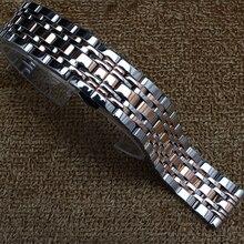 Nuevo reemplazo de la llegada correas de reloj straps14mm 16 mm 18 mm 20 mm 22 mmStainless reloj de metal de acero de plata banda con rosegold moda