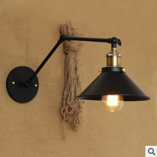 IWHD Loft Style Industrial Wall Lamp Vintage Swing Long Arm Wall Light Indoor Home Lighting Edison Sconce Lampara Pared long swing arm retro vintage wall light fixtures edison rustic loft style industrial lamp wall sconce wandlampen lampara pared