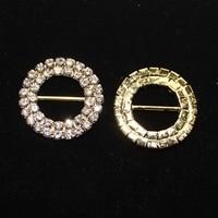 Double circular 15*27mm Rhinestone Buckle Embellishment For Garments, Wedding invitation buckle rhinestone Buttons 20pcs/lot