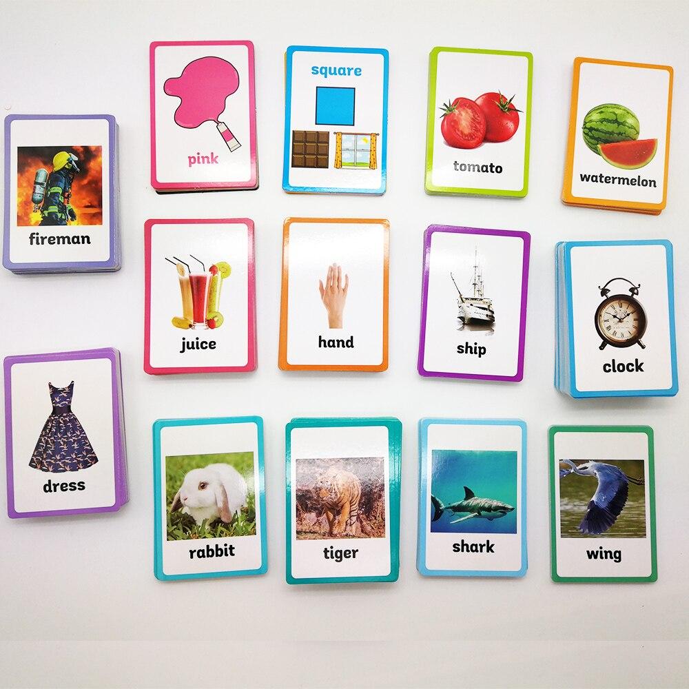 26 catégories 760 pièces apprendre l'anglais mot carte Flashcards Juguetes Educativos enfants jouets éducatifs pour enfants début d'apprentissage    1