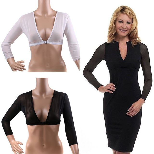 7d690a1812 Amazing Arm Sleeve Shapewear Sexy Crop Tops Slimming Control Arm Shapewear  Shaper Fashion Women Shapers Drop