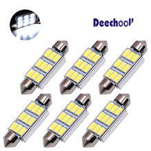 6 x 41mm 42mm Festoon 9SMD LED Light Canbus Interior Dome Map Trunk Cargo Footwell Replacement Bulb Lamp 12V 561 562 578 211