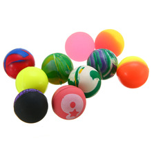 10pcs 27mm Bouncy Balls Colorful Jet Ball Birthday Party Loot Bag Toy Filler Rubber For Kids Children Favors