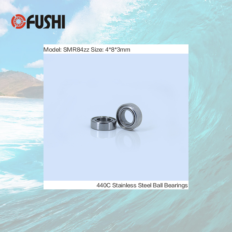 SMR84ZZ Bearing 4*8*3 mm ( 10PCS ) ABEC-1 Stainless Steel Ball Bearings Shielded SMR84Z SMR84 Z ZZ s6009zz bearing 45 75 16 mm 2pcs abec 1 s6009 z zz s 6009 440c stainless steel s6009z ball bearings