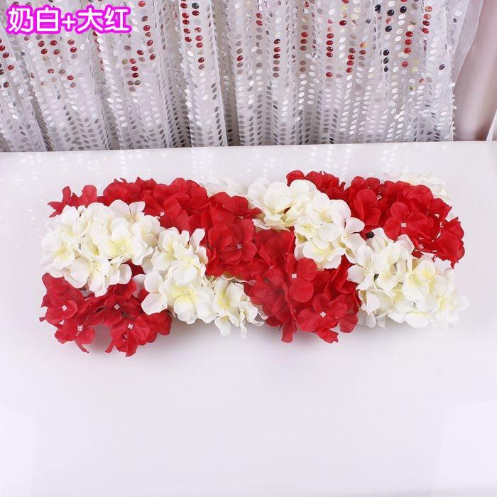 Свадебная композиция Свадебные Искусственные Свадебные шелковые розы арки цветочное свадебное украшение ряд цветов рамка с цветами 10 шт./партия - Цвет: FE12