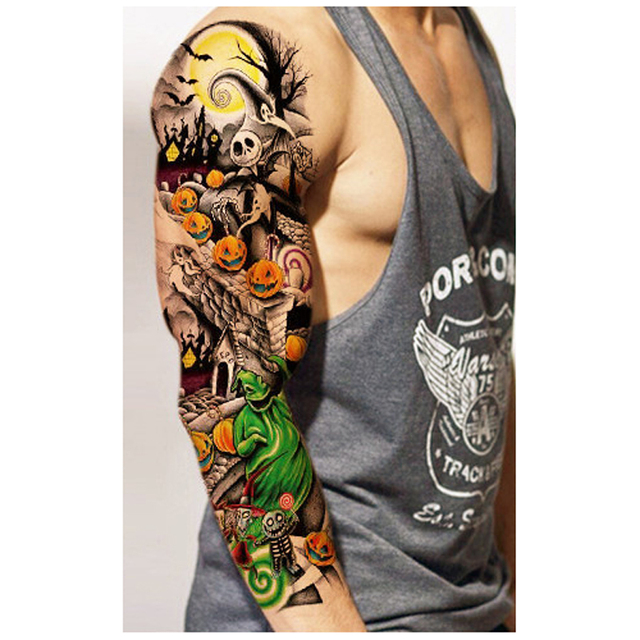 3f5738310 5PC Waterproof Temporary Tattoo Sleeve Designs Full Arm Tattoos For Cool  Men Women Transferable Tattoos Stickers