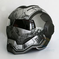 Masei Matt gray War Machine Mens womens IRONMAN Iron Man helmet motorcycle half helmet open face helmet ABS casque motocross