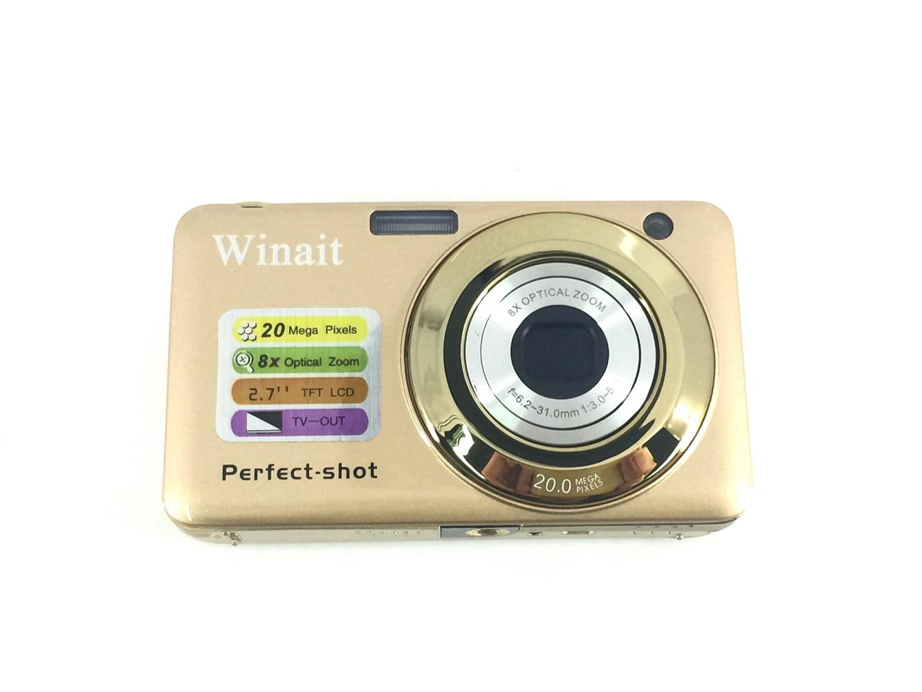 8X Optical Zoom Professional Digital Cameras Mini Cam DC-V600 2.7 720P HD Compact Camera Digital Photo Camera Smile Detection