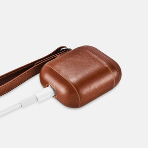 Image 2 - Leather Case For Apple Airpods 2 Airpods 1 Protective Case Vintage Design Headphone Leather Case LED Light Cover