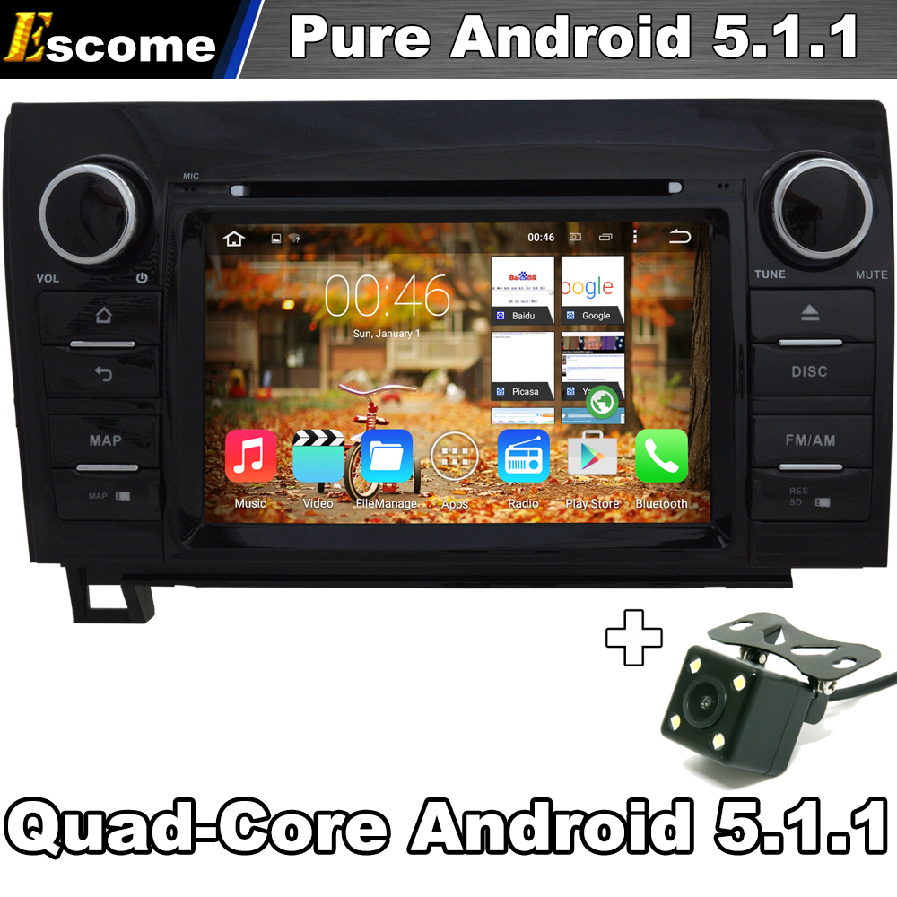 Чистый андроид 5.1 dvd-плеер автомобиля для Toyota Tundra 2007-2013 Toyota Sequoia 2008-2014 с Wi-Fi сзади вид Камера Bluetooth GPS