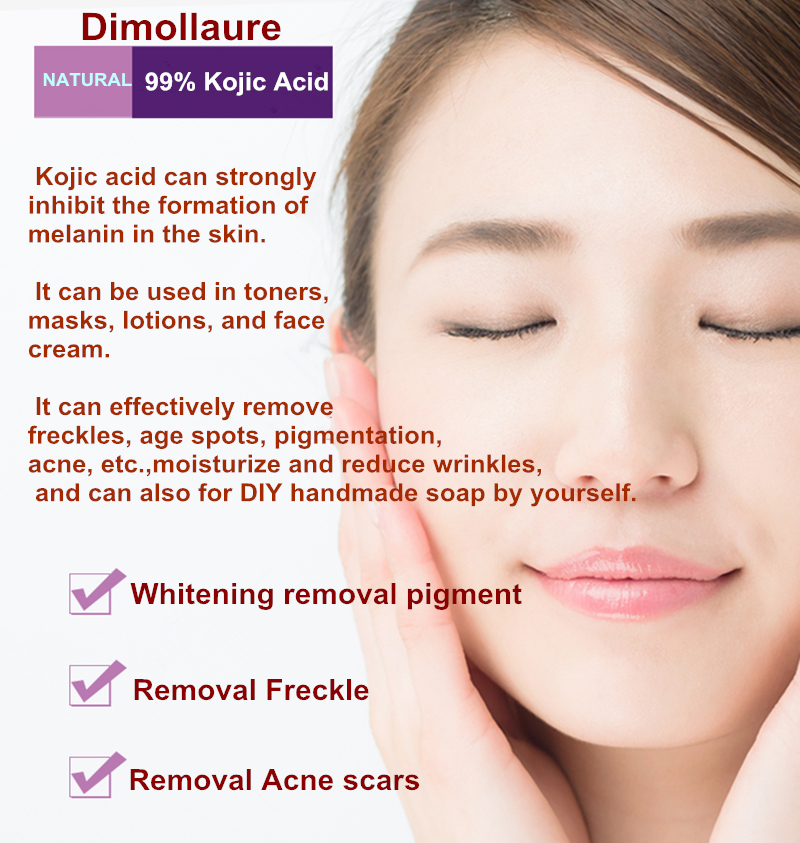 Dimollaure 50g puro 99% ácido kójico cuidado de la cara para - Cuidado de la piel - foto 2