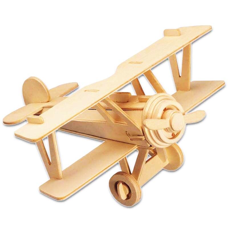 A font b Toys b font For Children 3d Puzzle Diy Wooden Puzzle Neubert Aircraft A