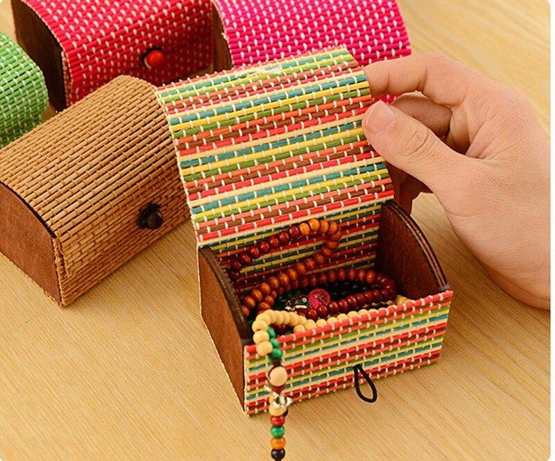 Creative Large Capacity Creative Bamboo Storage Box Soap Box Jewelry Box Jewelry Ring Necklace Bracelet Organizers