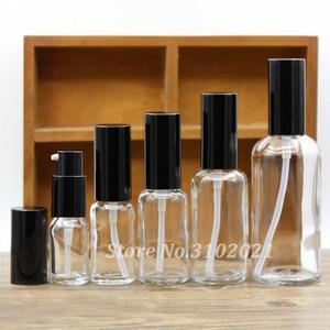 Image 3 - 2/10 Stuks 5/10/15/20/30/50/100 Ml Lege Helder/Amber Glas Essentiële Olie Parfumflesje Met Spuit/Lotion Pomp Glazen Spuitfles