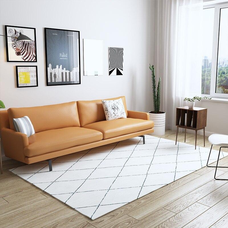 Tapis nordique marocain salon maison Simple chambre tapis canapé Table basse tapis salle d'étude tapis de sol tapis géométriques