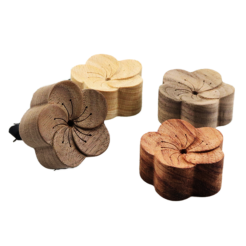 Home Decoration Accessories Wooden Ornaments Drip Into Essential Oil Slowly Disperse After Absorption Car Decoration FlowerShape
